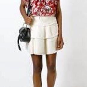 Fin Roney nederdel fra Iro . 66% cotton, 21% linen og 13% viscose. I den bedste ende af god men brugt uden huller, pletter, fnuller eller lign. En fransk 36 , tjek venligst mål:  Taljemål: 35,5 cm på tværs, dvs 71 cm i omkreds. Længde: 42 cm. Søgeord: vævet nederdel boucle miniskirt mini skirt råhvid creme hør bomuld flæser