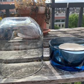 Candleholder in glass used outside on the balcony on sale.  Fine flass bought in a copenhagen store.