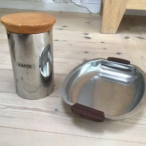 Retro kaffebøtte og fad fremstår i flot stand Sælges kun samlet