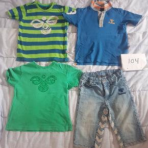 Rigtig pænt tøj, shorts som nye, de lilla ringe er om 1 plet hver som er meget lille.  Stk pris for det uden plet 50kr de 2 t-shirts  30kr