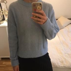 Flot lyseblå uld strik fra H&m trend