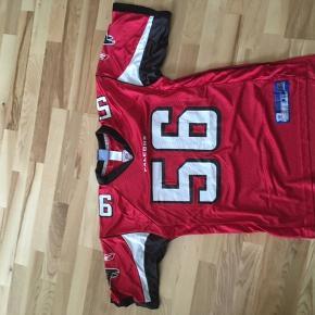 Atlanta falcons trøje i rigtig flot stand, trøjen har kun været brugt til et par NFL aftner. Størrelse M Keith brooking #56  Pris 150kr