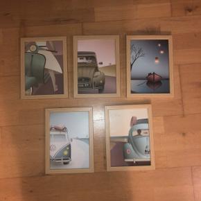 Billeder købt for 1 år siden, har hængt indtil nu💛 Sælges for 200 kr💛