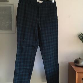 Ternede bukser, petroleum/sort, str. 38/M.