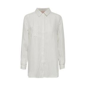 Lækker oversize bluse i den blødeste tencel kvalitet.. Hvid med en tynd sort Strib.