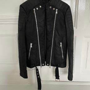 BALMAIN skind- & læderjakke