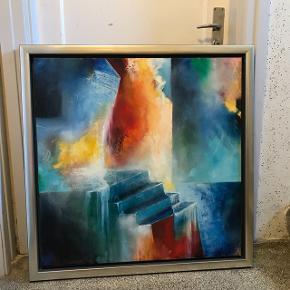 Jeg sælger mit super flotte maleri af Henrik Elnegaard. Det er 89x89 cm.