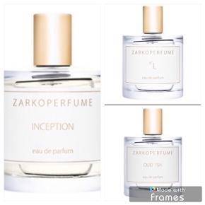 3 forskellige dufte fra Zarkoperfume. Testversion.  Oplyst pris er pr stk via mobilepay.  Bytter desværre ikke..