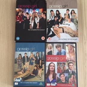 Gossip Girl Sæson 1 - 4. Alle for 130 kr.  Dvd