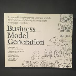 Business Model Generation på dansk af Alexander Osterwalder & Pigneur  BYD