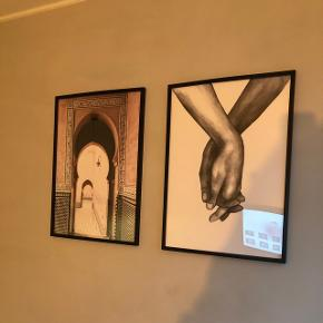To super flotte plakater fra Desenio, begge billeder inkl. Sort  ramme, som på billedet. Begge er str 50*70.