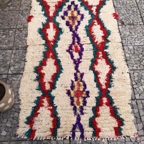 NY Håndlavet Marokkansk tæppe Bomulds tæppe, Marokkansk tæppe,  boucherouite tæppe, Kan vaskes i vaske maskine.   De venligst mine andre annoncer  Levering eller forsendelse gratis. 14 dage bytte garanti  Måler 195 x 95 cm