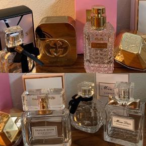 Parfume fra ysl, Gucci, Valentino, givenchy, Dior og lady million sælges. Ved nogen medfølger boks (se billeder)   OBS ALLE ER TOMME MEN KAN BRUGES TIL PYNT