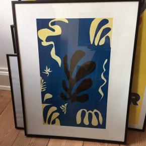 Smuk Matisse plakat inklusiv ramme i sort metal. Måler 50x40
