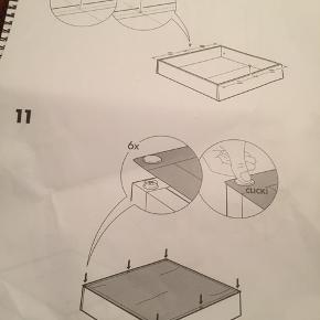Sengeskuffe Skal selv samles manual med følger  Til under senge opbevaring  65 x 70 cm.