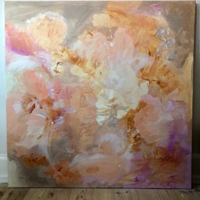 Maleri, akryl på lærred, 100x100 cm  Malet af mig.  Laver også bestillinger ☺️🙌🏻🎨