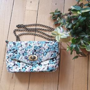 Floral fusion⚡⚡⚡ Summer fabric cute purse for you! Never used. In brand-as-new condition. Handmade by a greek designer