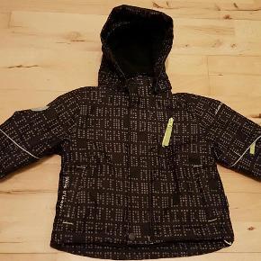 vindtæt jakke foret med fleece Farve: sort
