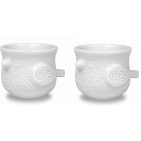 Helt nye Björn Wiinblad æggebæger æggebægre i hvid porcelæn  Har 8 stk. i alt da jeg havde købt til min store familie. De bruges ikke og står bare i skabet.  Sælges for 50 kr stykket
