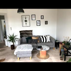 Tre personers sofa sælges med adskilt chaiselong, så den kan flyttes