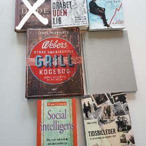 Den grå bog hedder positivt kropssprog. Prisen er 20 kr pr. bog.  Dødevaskeren er solgt.
