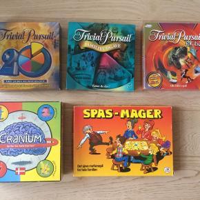 Trivial Pursuit: - For børn - 20 års jubilæum - Familieudgaven Cranium Spasmager  80kr pr stk (Spasmager 25kr)