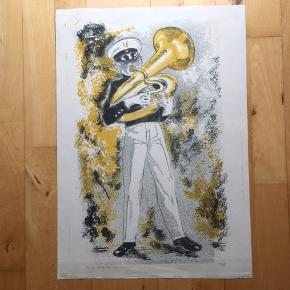 Charmerende farvelitografi af ubekendt fransk kunstner.  1956  Størrelse: B: 38 cm.  H: 53 cm.   Har pga. alderen håndteringmærker, som mere eller mindre vil blive skjult ifm. indramning.   Sendes i paprør.   Tilbyder professionel indramning med passe partout til meget fornuftige priser.   Mangler du nyt original kunst til væggene, så hold dig ikke tilbage med at spørge. Har 1000+ værker af anerkendte kunstnere i forskellige størrelser, farver og motiver.