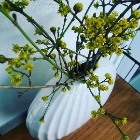 Kæmpe vase i perlemor. Art deco vintage . 28 cm høj. 31 cm bred.