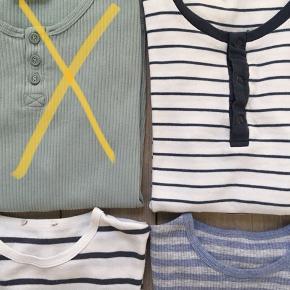 Marmar pakke str. 9Y/134 NSN-GMB  Indeholder: 1 L/Æ bluser 2 t-shirts 1 par shorts  Derudover medfølger der GRATIS 1 stribet Marmar t-shirt som har et lille hul i nakken)  Samlet MP 300 kr. pp/dao