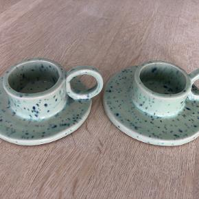 Krøllet Keramik lysestage