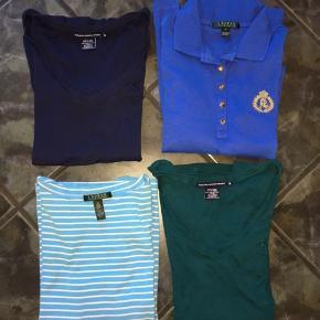 4 fine bluse fra RL. De er kun brugt er par gange og derfor i fin stand. Samlet pris 150 kr