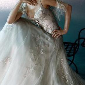 Varetype: Brudekjole Farve: Cream / silv Oprindelig købspris: 41000 kr.  Rigtig smuk kjole fra Elie Saab. Den hedder Aida er købet på Frederiksberg.