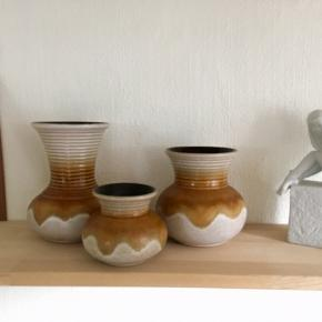 Har disse 3 sjove vaser som søger et nyt hjem.