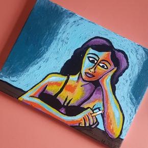 Maleri på lærred 40x35 cm