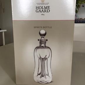 """Klukflaske """"Spirits Bottle"""" fra Holmegaard. Aldrig brugt og ikke pakket ud. Ny pris 800kr."""