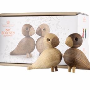 Kaj bøje fugle med æske         Søgeord: Træ, brun, sandfarvet, lyst træ, fugle