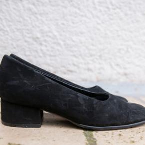 Vintage sko med lille hæl