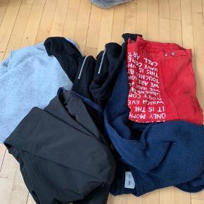 Sælger diverse herretøj   Nypris Cr 2500kr   Skibukser , bluser , kortærmede denim jakke   Mærker: diesel - asos - nno7 - weekday