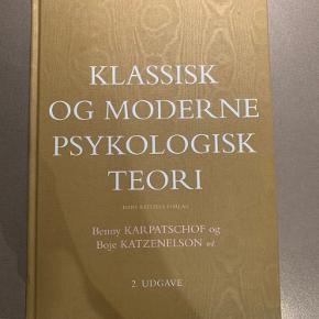 Klassisk og moderne psykologisk teori  Aldrig åbnet - stand derfor som helt ny