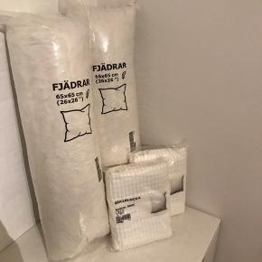 2x helt nye IKEA puder med betræk, aldrig brugt eller pakket ud