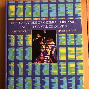 Fundamentals of general, organic and biological chemistry 6. Udgave. Fejler intet. Afhentes i Aarhus eller sendes på købers regning. Nypris 650kr.