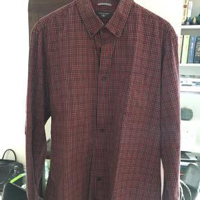 Rød/grøn ternet herreskjorte
