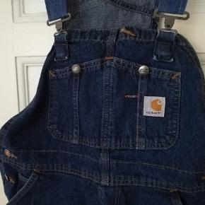 Fede Carhartt afklippede denim overalls smækbukser, shorts, passer ca en M /L