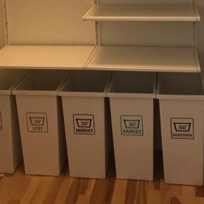 5 organiseret vasketøjskurve fra IKEA  Fejler intet, men sælges grundet flytning   Kan købes separat, for 50 kr. pr. stk.   Skal afhentes i Aalborg