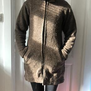 Uld sweater med fleece for