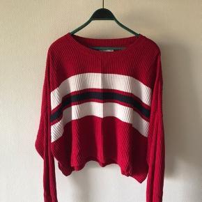 Oversized sweater fra Hollister med striber, str. large    #30dayssellout