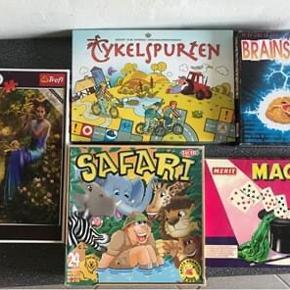 Forskellige spil samt et puslespil vi ikke længere får brugt. Spillene sælges helst samlet. 50 kr pr spil