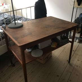 Old Bar table on wheels, surface needs some love72cm high 90cm wide