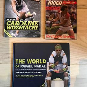 Velholdte tennisbøger. 50 kr/stk.