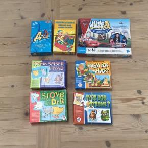 Diverse spil frit valg 50 kr pr stk eller samlet 250 kr